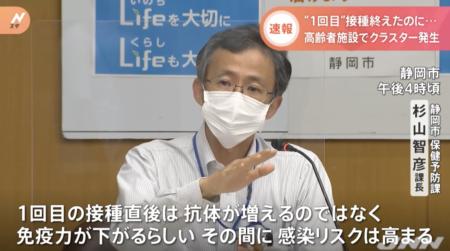 【ワクチンの意味なし】一回目のコロナワクチン接種を終えた静岡の高齢者施設でクラスター発生