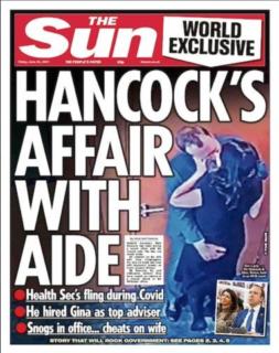 【世界の要人もコロナは噓だと知っている】イギリス保健相が不倫相手とソーシャル・ディスタンスを破り、引責辞任